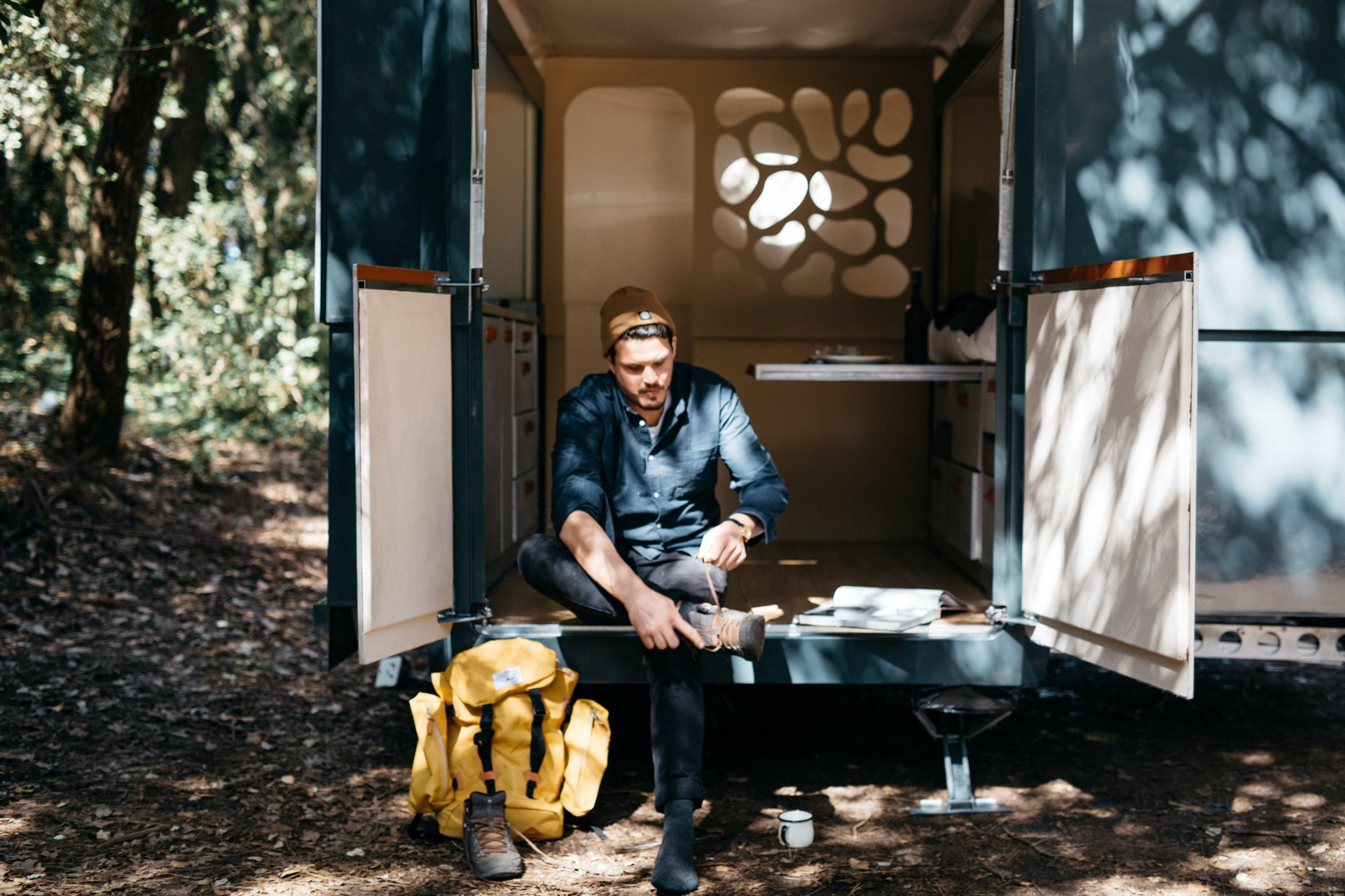 Camper and caravan pitch