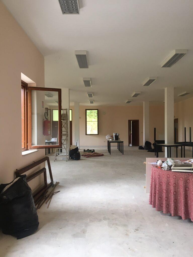Sala ristorante prima della della ristrutturazione del campeggio